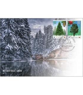 Metsade kuld - liigid. Eesti - Rumeenia ühisväljaanne - FDC
