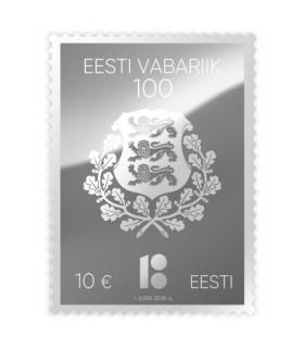 Centenary of the Republic of Estonia silver stamp