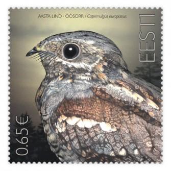 爱沙尼亚10月17日发行年度鸟类�C欧洲夜鹰邮票