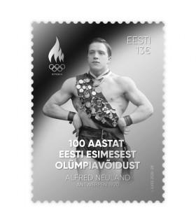 100 aastat Eesti esimesest olümpiavõidust hõbemark